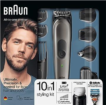 Braun Todo En Uno 10 En 1 MGK7021 - Recortadora Barba Y Cortapelos ...