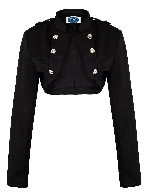 AO Vogue Bol/éro Style militaire /à Manches longues Noir Taille XL