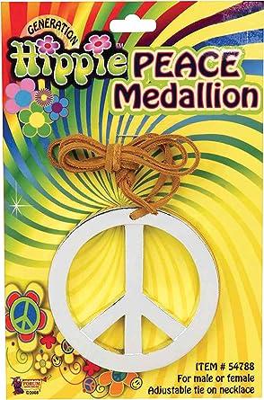Brand New 1960/'s Hippie Peace Medallion Costume Accessory