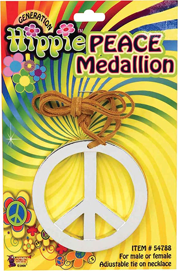 60s , 70s Hippie Clothes for Men Forum Novelties Hippie Peace Medallion $3.28 AT vintagedancer.com