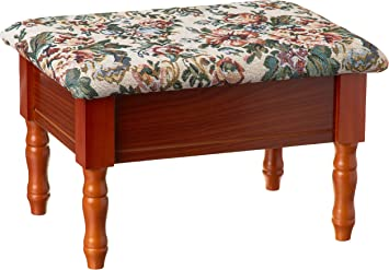Shop Queen Anne Desk Chair Set Free Shipping Today >> Frenchi Furniture Queen Anne Style Footstool W Storage
