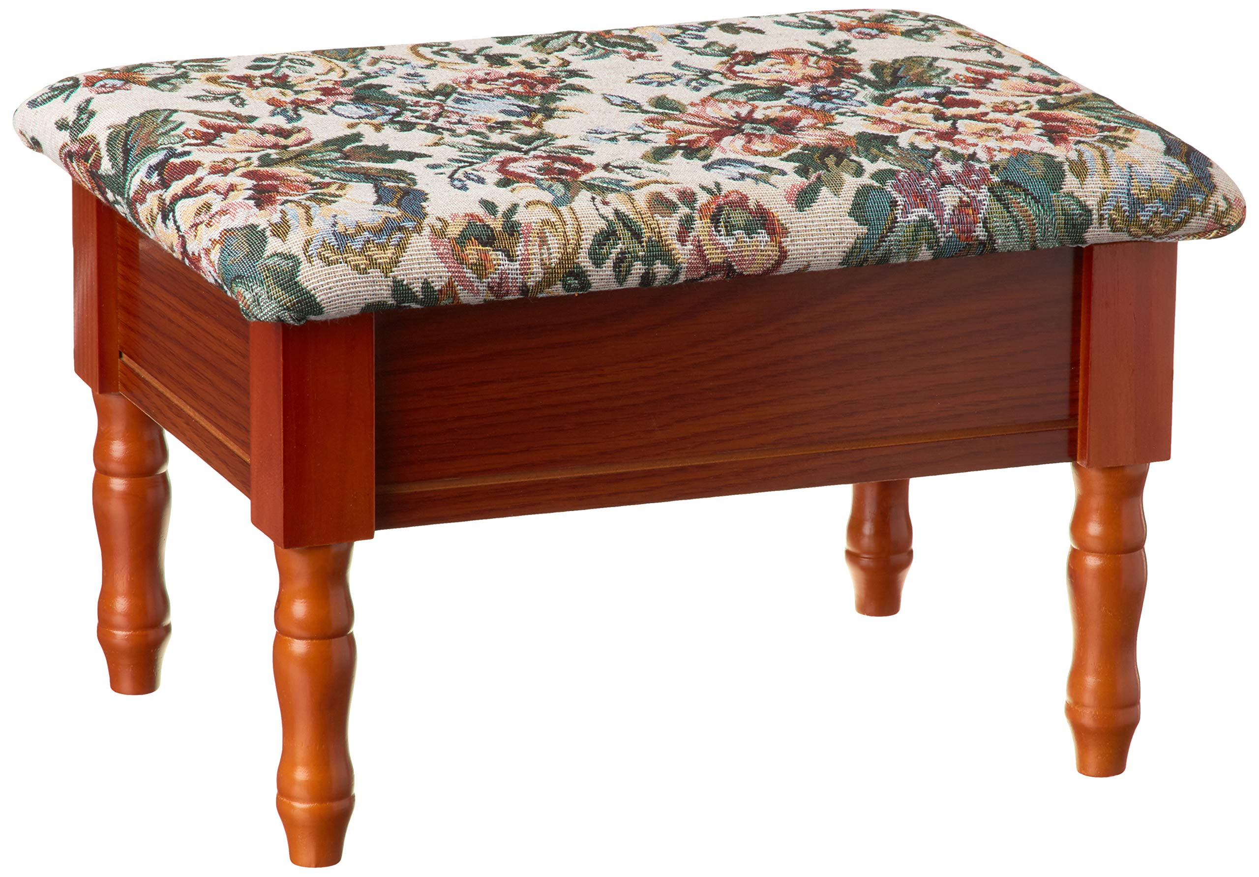 Frenchi Furniture Queen Anne Style Footstool w/ Storage by Frenchi Home Furnishing
