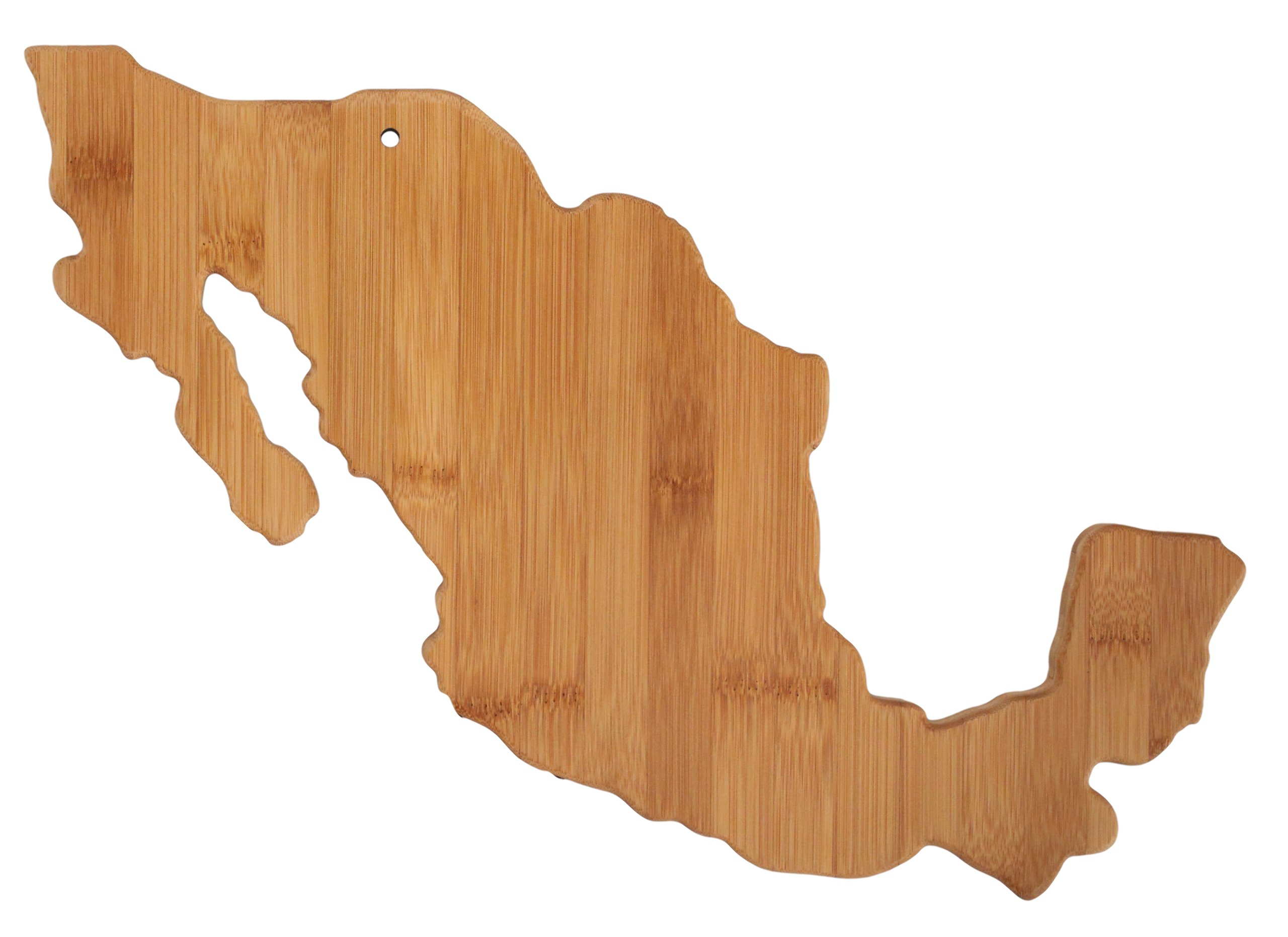 Totally Bamboo Country Cutting & Serving Board, Mexico, 100% Bamboo Board for Cooking and Entertaining