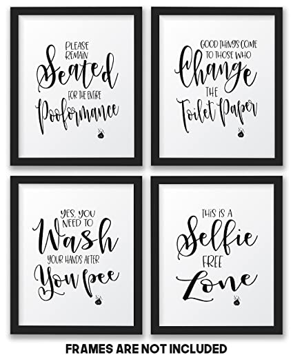 The John Funny Bathroom Wall Decor Signs/Quotes Set, Art Prints