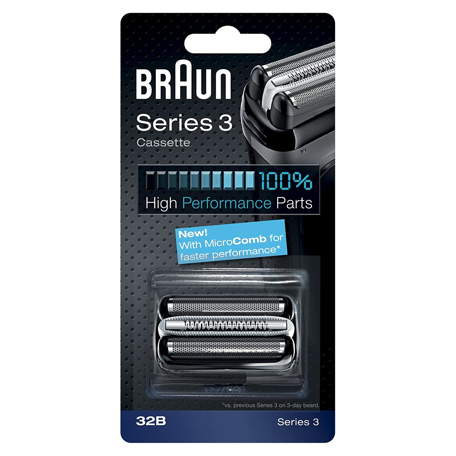 Braun 32B Series 3 Shaver Cassette Foil & Cutter with MicroComb Replacement Head 81483728