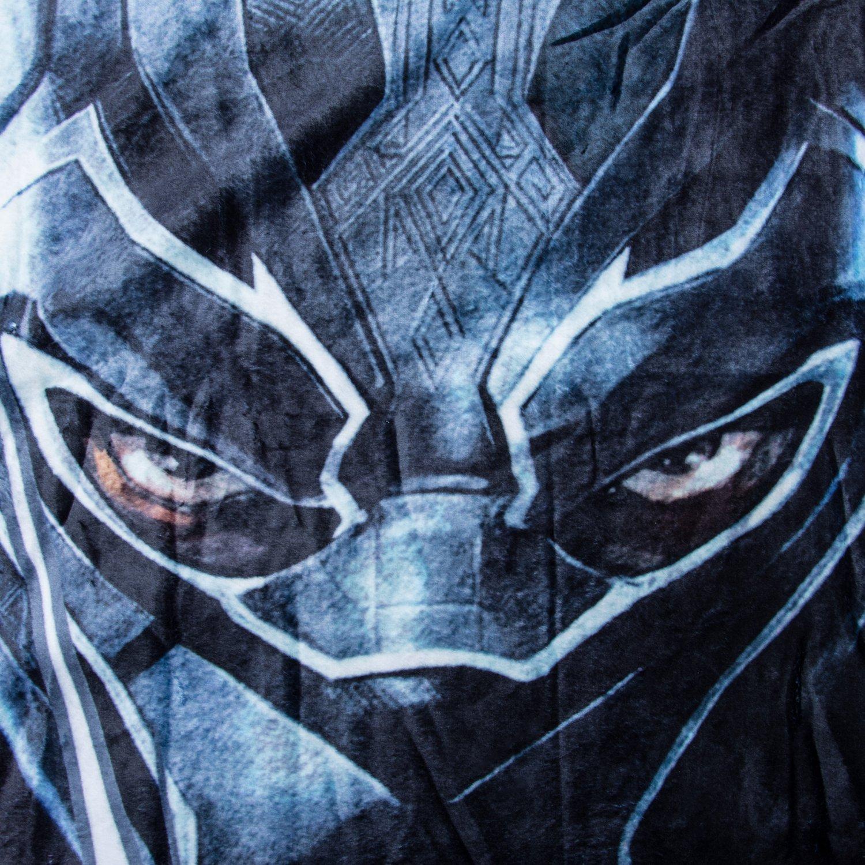 Marvel Black Panther Fleece Blanket - Officially Licensed Marvel Black Panther Movie Soft Silk Throw Bed Blanket by Marvel (Image #3)