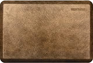 """product image for WellnessMats Leather 3/4"""" Anti-Fatigue Mat - Comfort & Support - Non-Slip, Non-Toxic (Bronze, 3'x2')"""