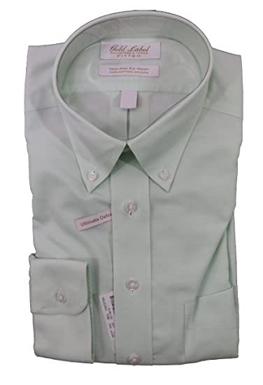 afcbff1f285 Gold Label Roundtree & Yorke Non-Iron Fitted Classic Fit Button-Down ...