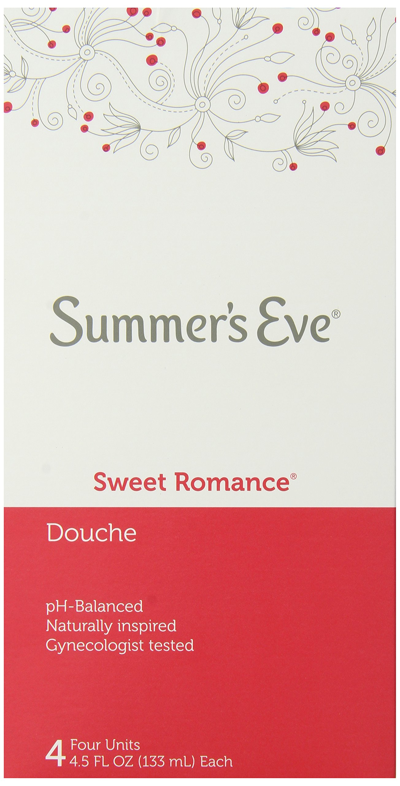 Summer's Eve Douche | Sweet Romance | 4-4.5 Fluid Ounces Each | Pack of 6 | pH Balanced & Gynecologist Tested