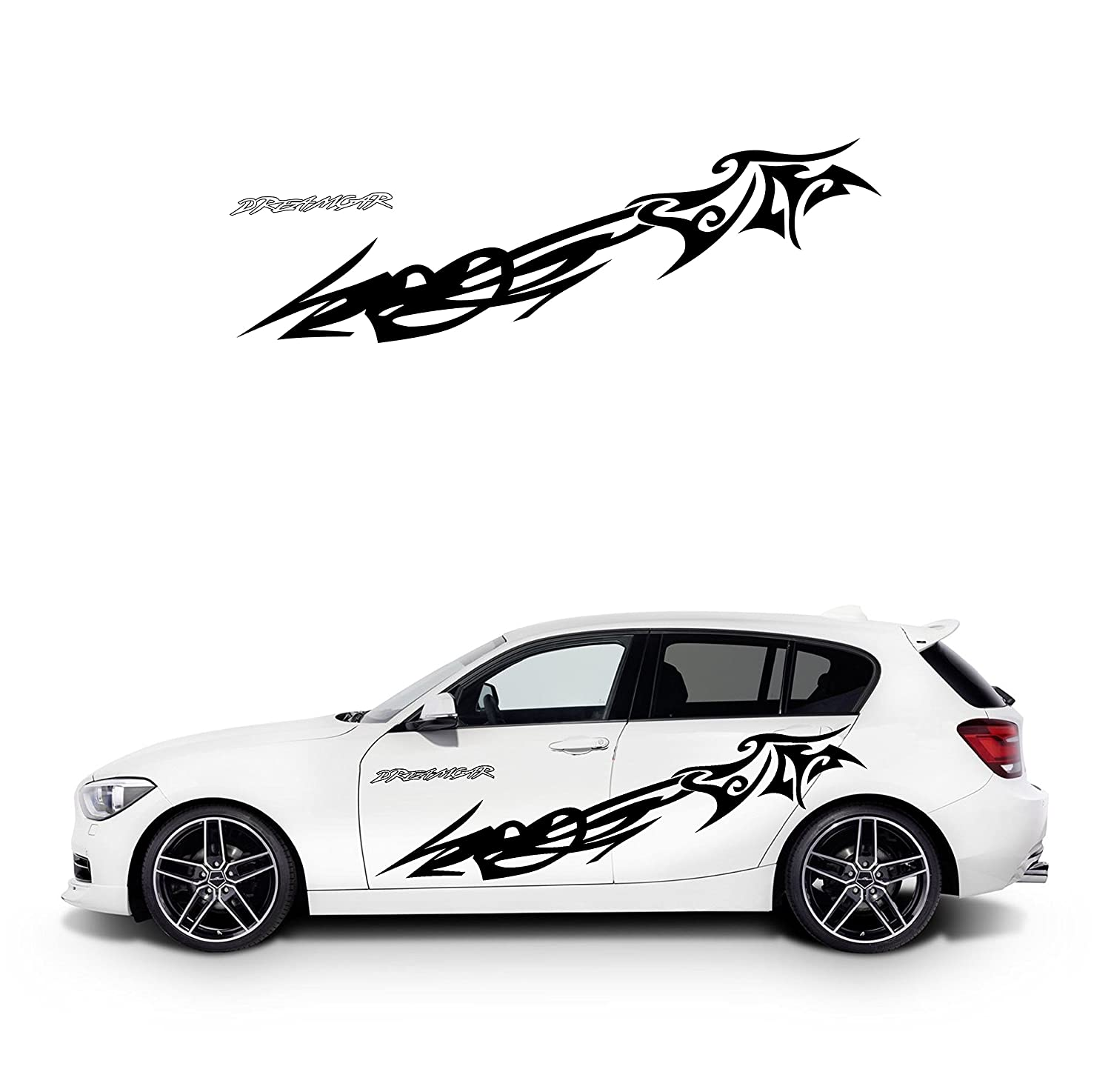 Amazon com tribal design easy to attach easily cool car door sticker left and right set automotive