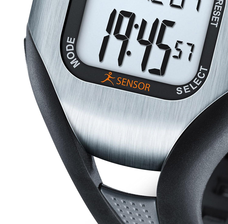 sensor de actividad medidor de ritmo cardiaco color negro Beurer PM18 Puls/ómetro sin correa pectoral
