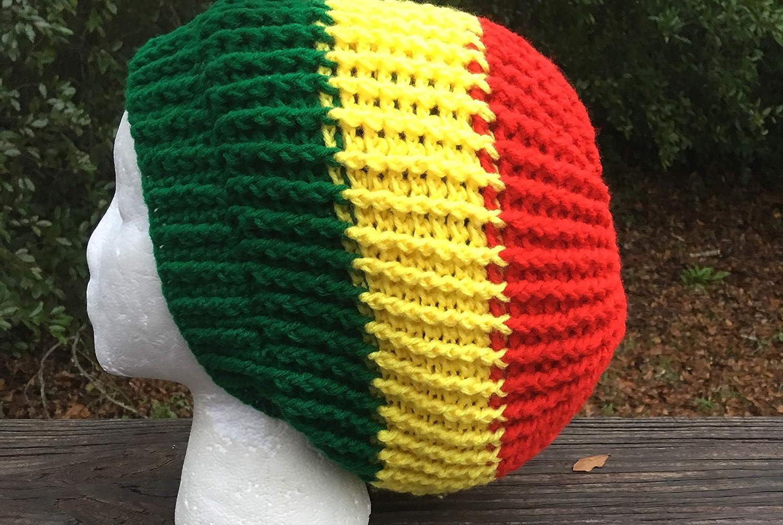 Amazon Ribbed Red Yellow Green Rasta Hippie Jamaican Bob Marley