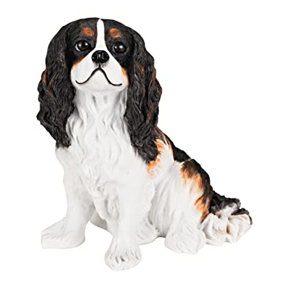 Amazon cavalier king charles spaniel solid hand painted dog cavalier king charles spaniel solid hand painted dog statue 56quot thecheapjerseys Images
