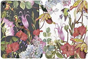 Cavka Case for Apple iPad 10.2 8th Gen 12.9 Pro 11 10.5 9.7 Air 3 Mini 5 4 3 2 1 2019/18 Tropical Smart Cover Summer Print Slim Birds Jungle Design Girls Floral Flower Exotic Auto Wake Sleep