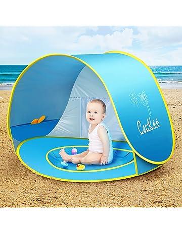 CeeKii Tienda Playa Bebe, Pop-up Tienda de bebé con Piscina para Infantil Carpa