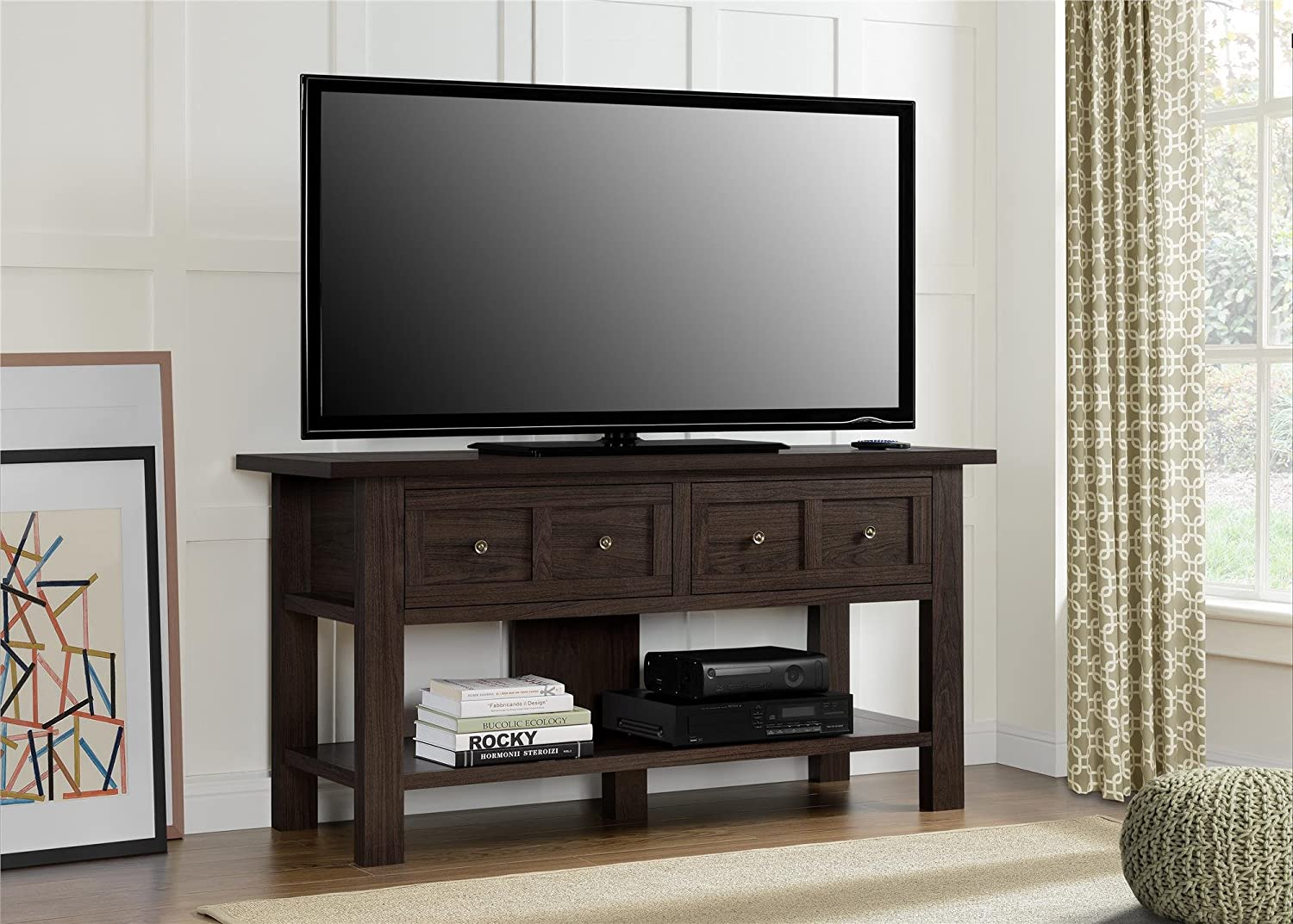 Amazon.com: Ameriwood Home Pillars Apothecary TV Stand for TVs up to ...