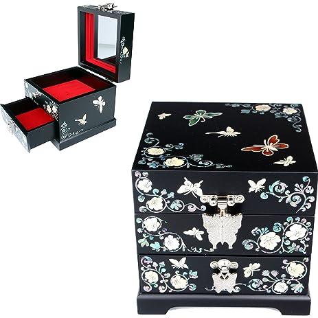 Amazoncom Antique Jewelry Box Jewelry Tray Women Gift Jewelry