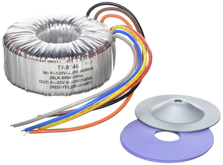 VS-ELECTRONIC 2 x 25V TR8040 123012 Ringkern-Transformator 100VA