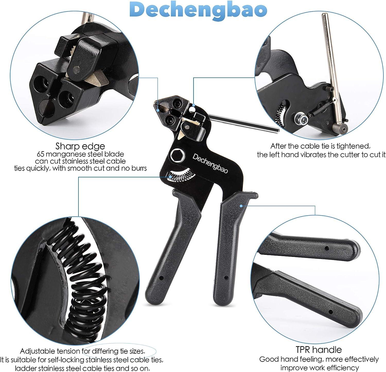 Qerich hasta 0,354 pulgadas de ancho m/áximo de amarre Pistola de alambre con mango de acero para bridas o sujetadores de cable de nailon de pl/ástico