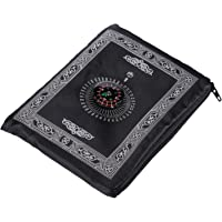 Hitopin Draagbare reisgebedsmat met kompaszak formaat draagtas en bevestigd kompas biddeken draagbaar nylon waterdicht…