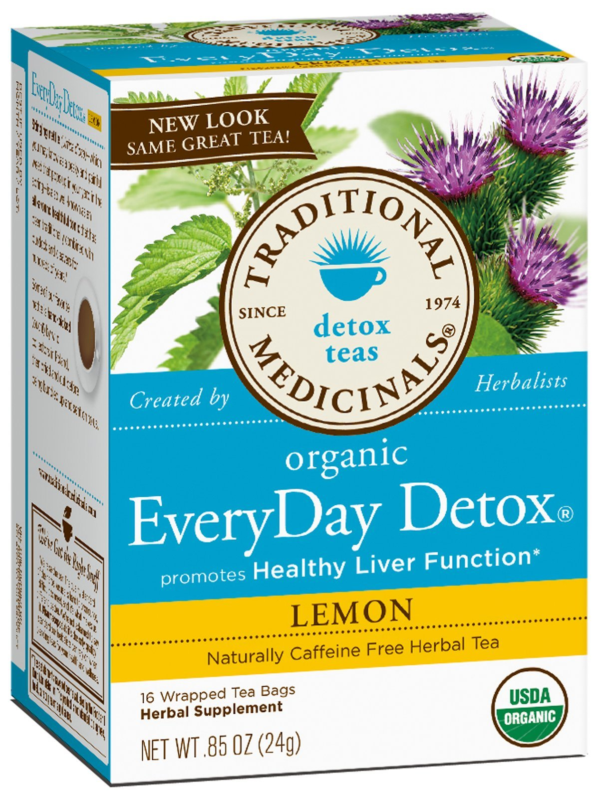 Traditional Medicinals AY29173 Traditional Medicinals Everyday Organic Lemon Detox -6x16 Bag