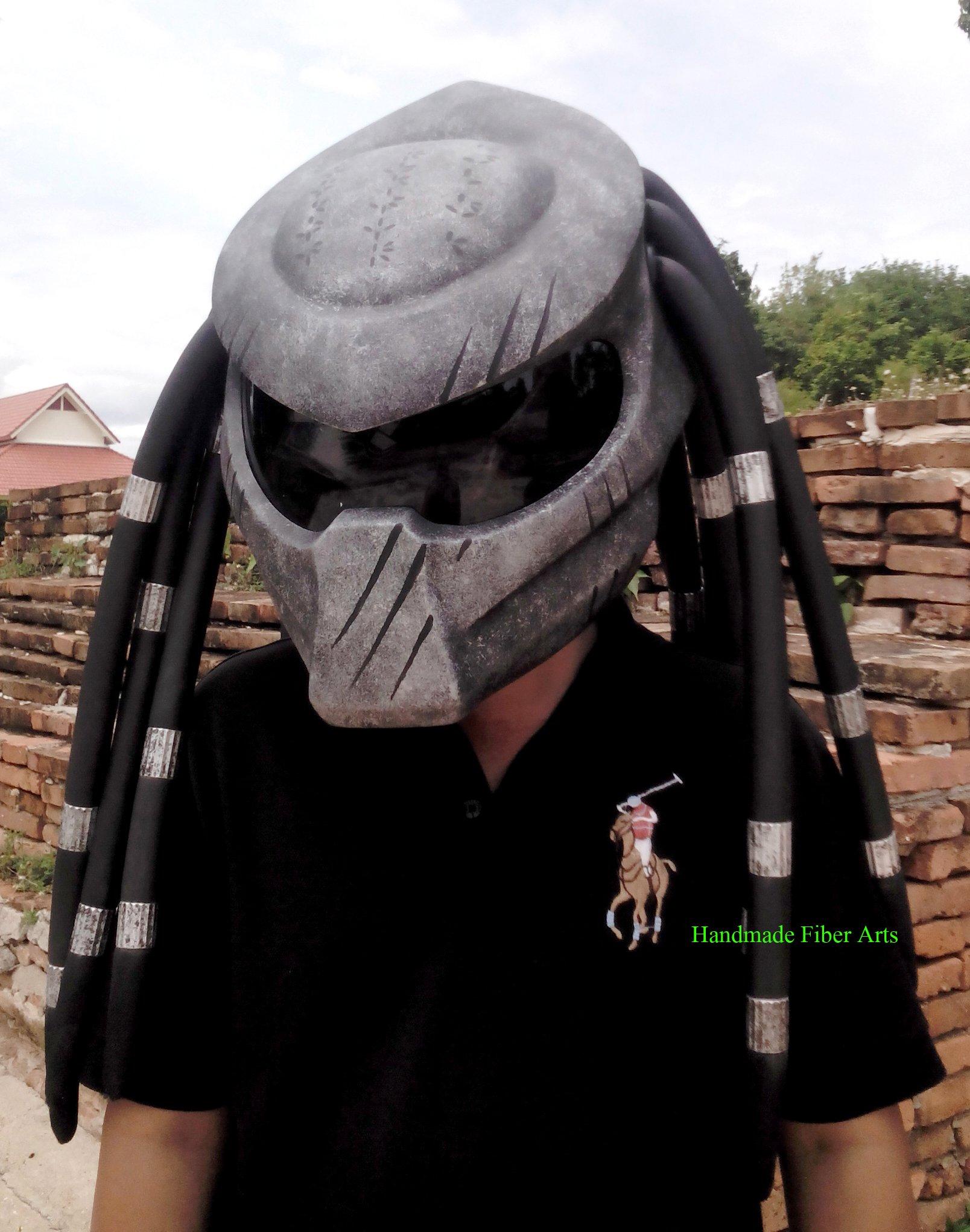 HAT 58 Custom Predator Motorcycle Helmet (XXL =63-64 cm)