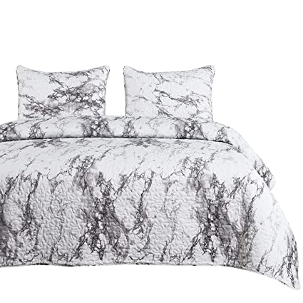 50f4a72a1c48 Image Unavailable. Image not available for. Color  Wake In Cloud - Marble  Quilt Set ...