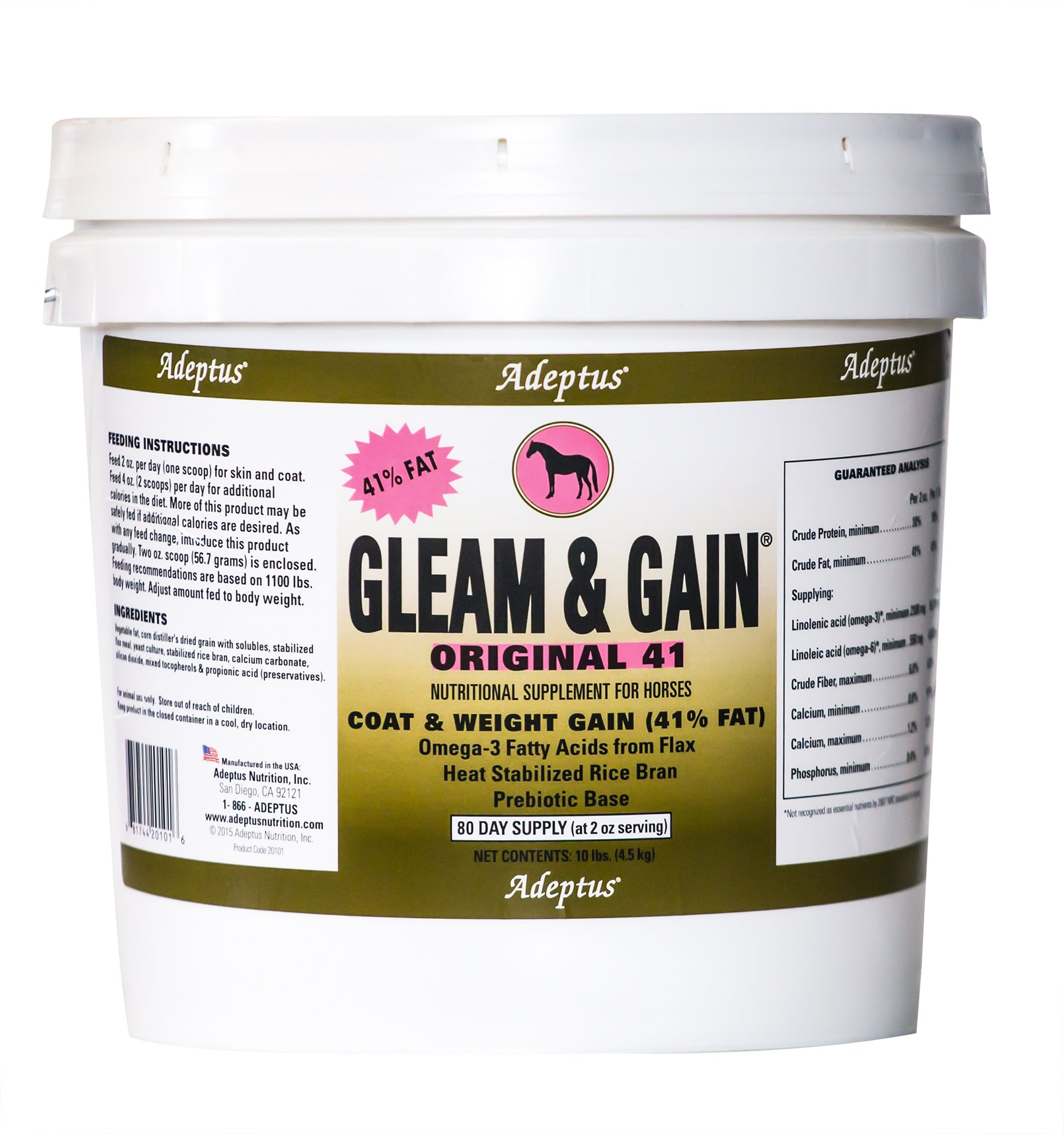 Adeptus Nutrition Gleam and Gain Original 41 EQ Joint Supplements, 10 lb./10 x 10 x 10 by Adeptus Nutrition