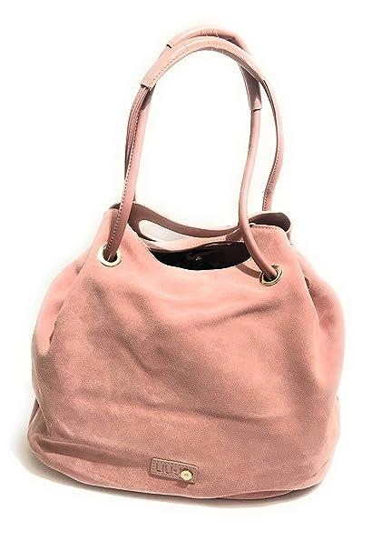ModCarina In Liu Pink Con Secchiello Scamosciata Jo Pelle Borsa A bfgy76