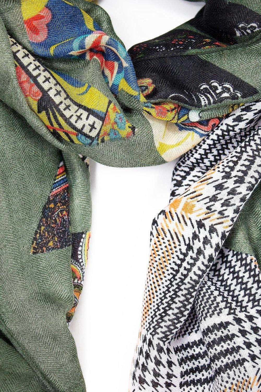 Desigual Luxury Fashion Donna 19WAWA16GREEN Verde Foulard Autunno Inverno 19