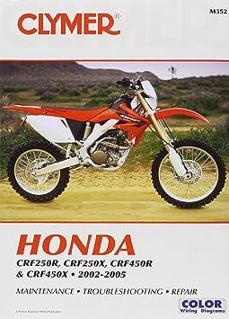 amazon com clymer honda crf250r crf250x crf450r crf450x 2002 rh amazon com 2006 Honda CRF 250 X 2006 crf250x service manual pdf