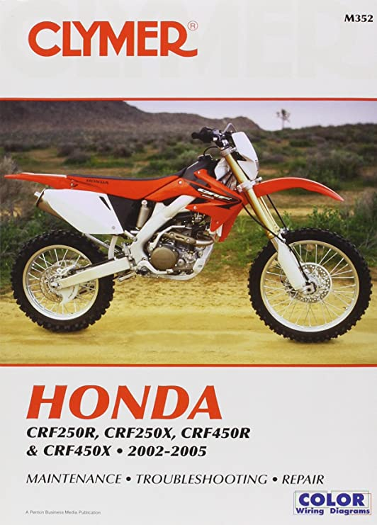 amazon com clymer honda crf250r crf250x crf450r crf450x 2002 rh amazon com