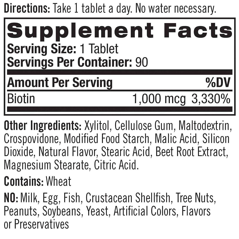 Natrol Biotin Maximum Strength Tablets 10000mcg 100 10000 Mcg Count