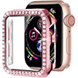 Moolia Bling Case Compatible with Apple Watch 44mm Iwatch Series 6/5/4, iWatch SE 44mm Bling Crystal Diamond Face Cover with