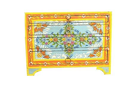 Beautiful pintada a mano diseño Vintage de flores turquesa ...
