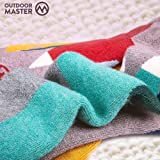 OutdoorMaster Kids Ski Socks - Merino Wool
