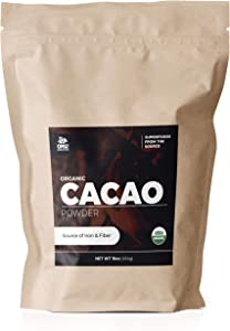 OMG! Superfoods Organic Cacao Powder - 100% Pure, USDA Certified Organic Cacao Powder (16oz)