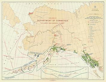 Amazon.com: 1923 Nautical Chart | Historical Outline Map Alaska | AK ...