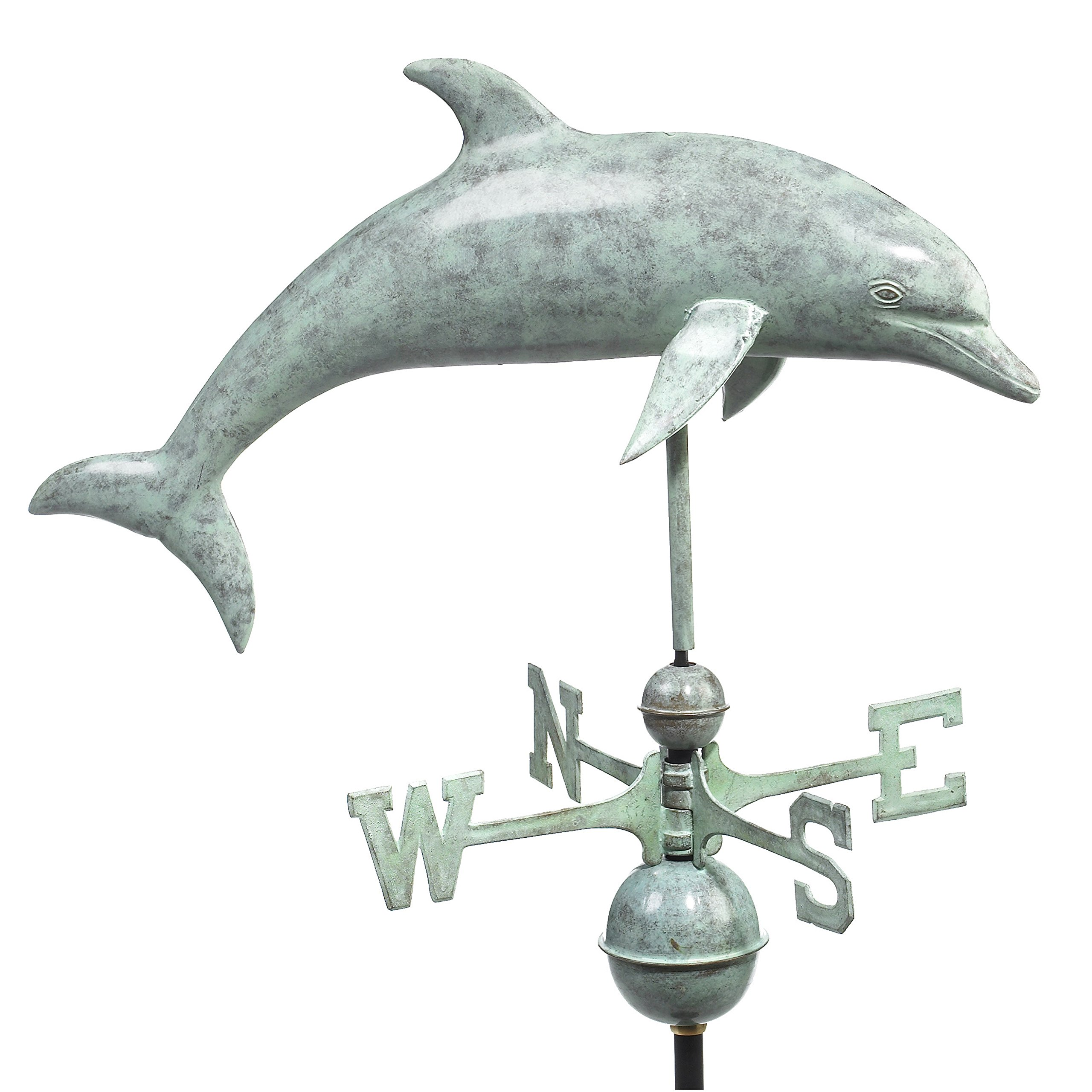 Good Directions Dolphin Weathervane, Blue Verde Copper by Good Directions (Image #1)