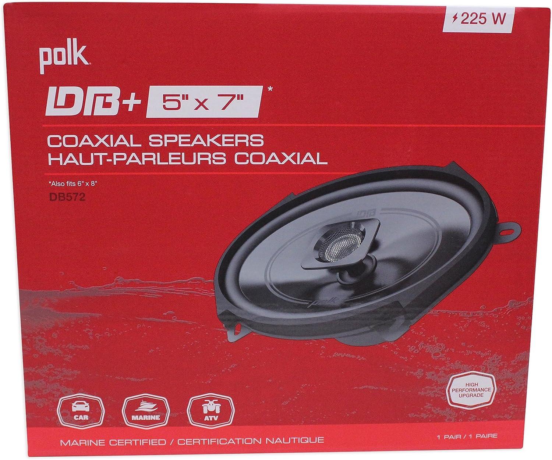 Rockmat Polk Audio DB572 5x7 225w Car Audio ATV//Motorcycle//Boat Speakers 2
