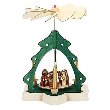 Albero Di Natale Con Presepe Thun.Thun Piramide Natalizia Con Mini Presepe Ceramica H 27 5 Cm Linea I Classici