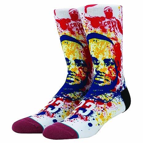 Stance calcetines de salpicaduras de LeBron James Cleveland Cavaliers NBA, Medium