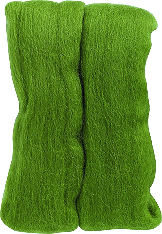 Lana naturale vaganti 0.3 oncia-Moss Green