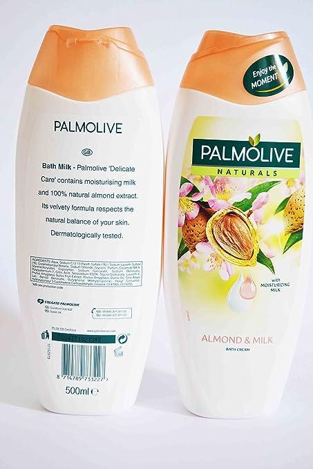 Palmolive crema de baño con almendra y leche hidratante 500 ...