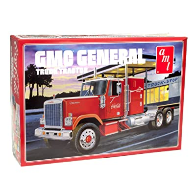 AMT 1976 GMC General Semi Truck - Super Detailed Coca-Cola Painted 1/25 Scale Model Big Rig Hauler Model Kit: Toys & Games