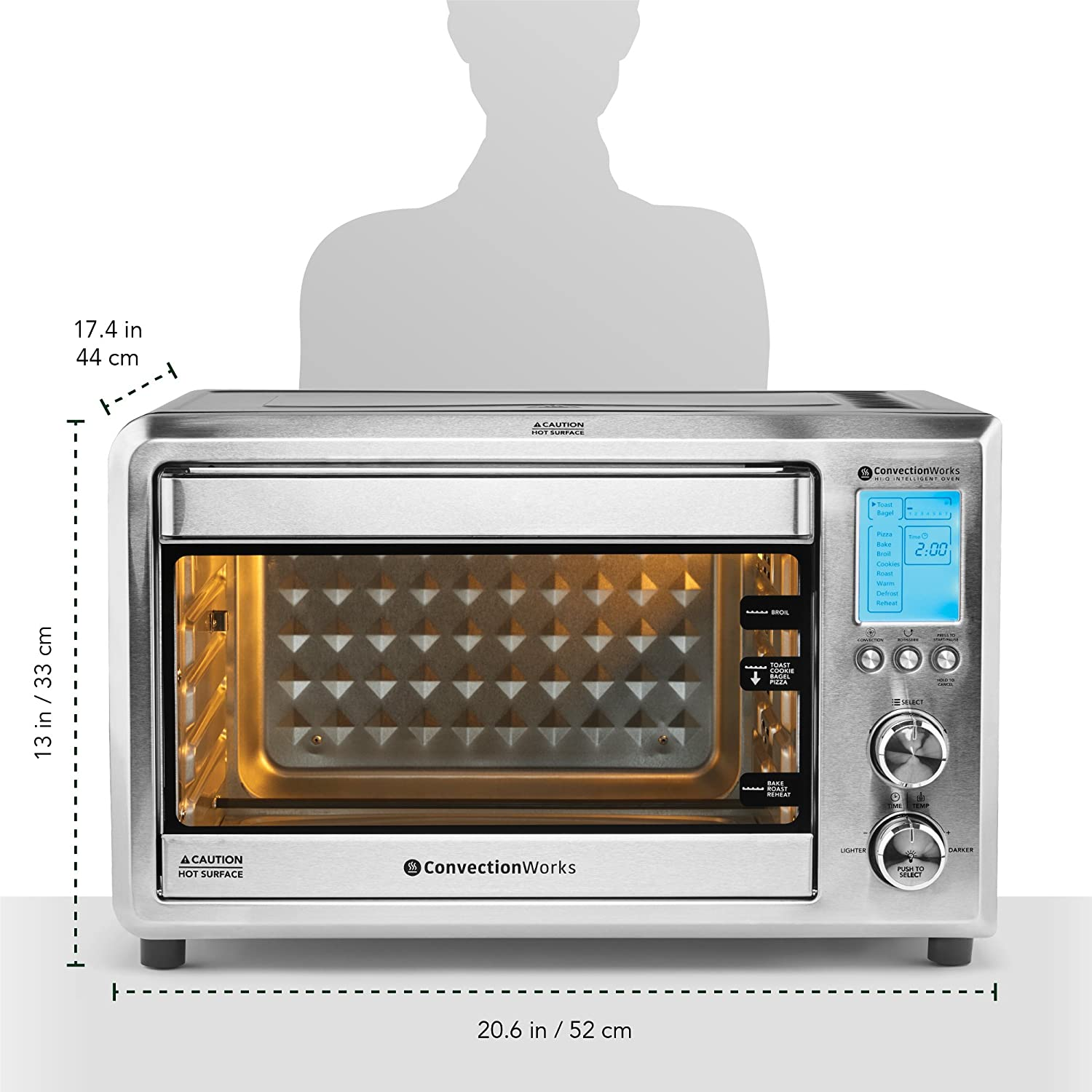 Convectionworks Hi Q Intelligent Countertop Oven Set 9 New Electric Need Help Connecting Wiresovenjpg Slice Xl Convection Toaster W Bamboo Cutting Board 10 Accessories
