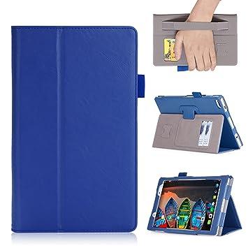 SHINEZONE Lenovo tab4 8 Plus ケース スタンド機能 カード収納機能 全面保護型 高級PU