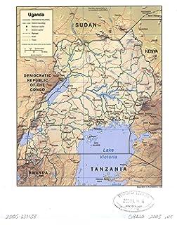 Uganda 1550 000 travel map international travel maps itmb map poster uganda gumiabroncs Images