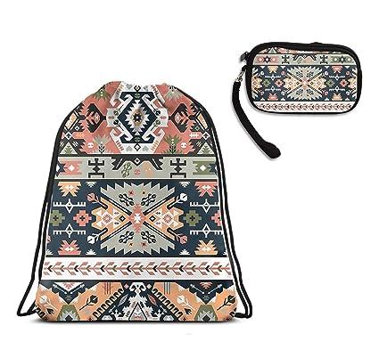 Amazon.com: Mochila con cordón azteca de cuerda tribal ...