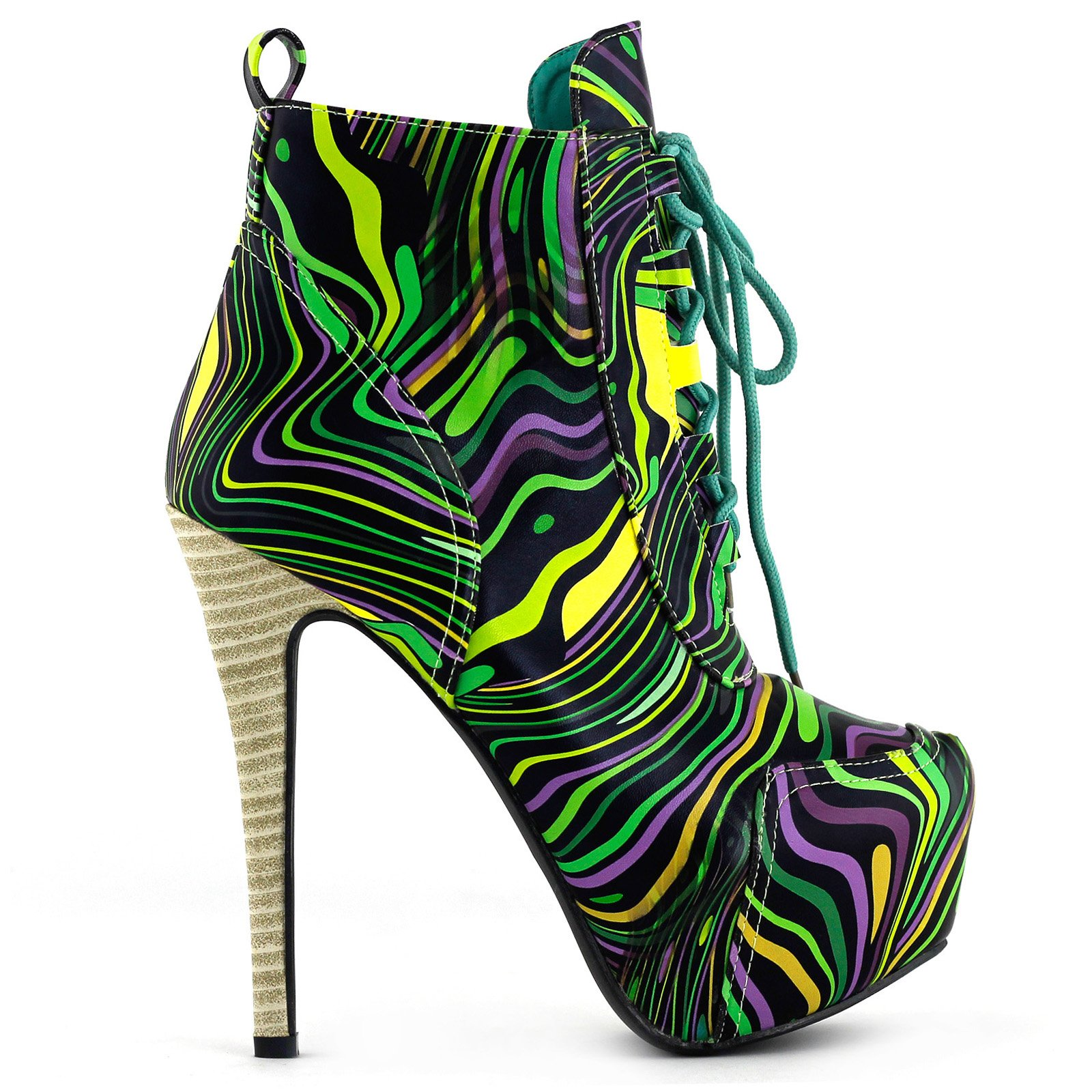 SHOW STORY Green Date Day Out Wedding Ladies Super High Heels,LF80833GR38,7US,Green